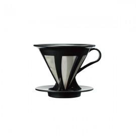 Hario 02 Kendinden Filtreli Dripper Siyah Kahve Demleme Ekipmanı