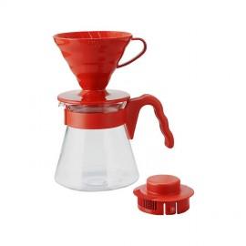 Hario V60 Kahve Demleme Seti Kırmızı Kahve Demleme Ekipmanı