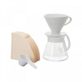 Hario V60 02 Seramik Kahve Demleme Seti Beyaz