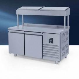Iceinox PTS 330 CR Make Up Snack Buzdolabı, Yüksek, 2 Kapılı