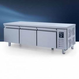 Iceinox UTN 280 CR Pişirici Altı Buzdolabı, Kısa, 3 Kapılı