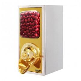 Oggetti A Model Draje & Kahve Silosu, Paslanmaz, Kapasite 4 kg, 20x25x45 cm, Gold