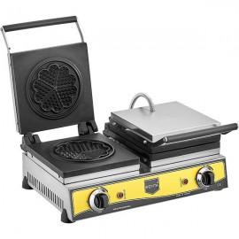 REMTA Çiftli Çiçek Model Waffle Makinası Elektrikli 16 cm Çap
