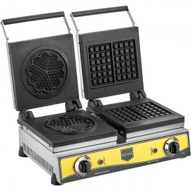 REMTA Çiftli Kare+Çiçek Model (16 cm Çap) Waffle Makinası Elektrikli